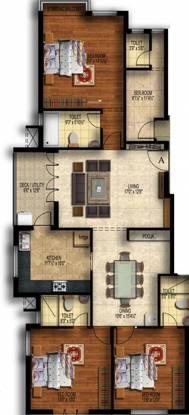 Sree Nivas L Oasis (3BHK+3T (1,968 sq ft) Apartment 1968 sq ft)