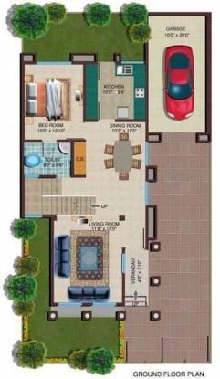 GHP Eden Garden Villas (3BHK+3T (2,000 sq ft) Villa 2000 sq ft)
