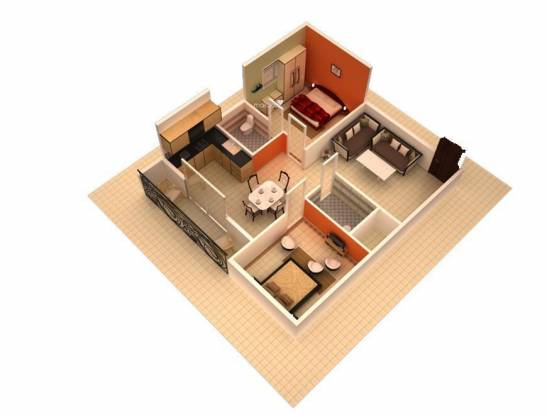 DS DSMAX SILICON (2BHK+2T (930 sq ft) Apartment 930 sq ft)