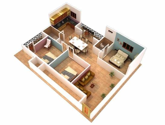 DS DSMAX SILICON (3BHK+3T (1,625 sq ft) Apartment 1625 sq ft)