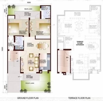 Ansal Sushant Taj City (2BHK+2T (1,050 sq ft) Villa 1050 sq ft)