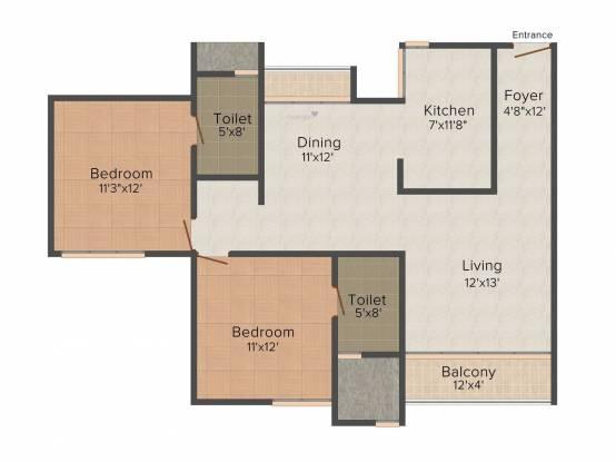 Appaswamy Platina (2BHK+2T (1,273 sq ft) Apartment 1273 sq ft)