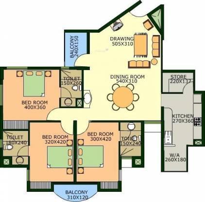 Desai DD Samudra Darshan (3BHK+2T (1,715 sq ft) Apartment 1715 sq ft)