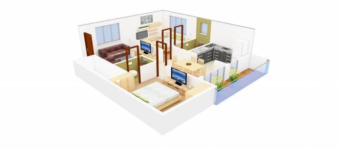 SLV Raj Driva (2BHK+2T (1,124 sq ft) Apartment 1124 sq ft)