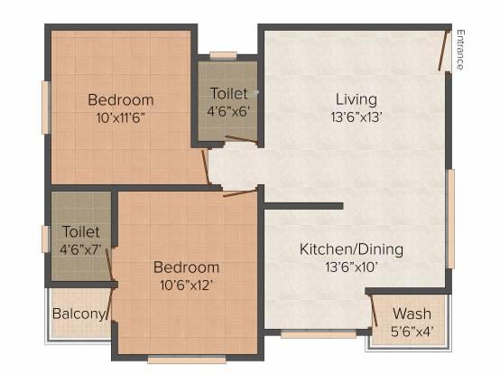 Labh Hari Smruti (2BHK+2T (1,050 sq ft) Apartment 1050 sq ft)