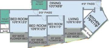Nahar Lilium Lantana (3BHK+2T (1,500 sq ft) Apartment 1500 sq ft)