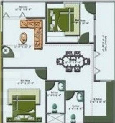 SML Maple Tree (2BHK+2T (1,040 sq ft) Apartment 1040 sq ft)