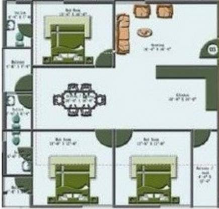 SML Maple Tree (3BHK+3T (1,490 sq ft) Apartment 1490 sq ft)