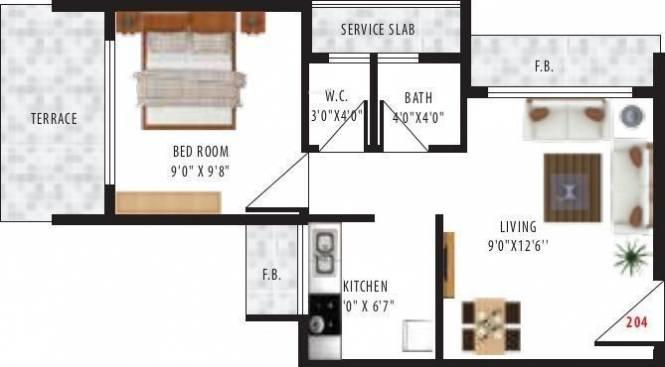 Stone Villa (1BHK+1T (605 sq ft) Apartment 605 sq ft)