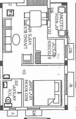 RND Angel Avenue (1BHK+1T (562 sq ft) Apartment 562 sq ft)