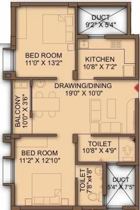Decor Mahadev Avenue (2BHK+2T (1,031 sq ft) Apartment 1031 sq ft)