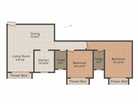 Aristo Imperial (2BHK+2T (1,050 sq ft) Apartment 1050 sq ft)