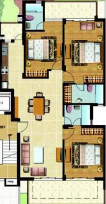 Omaxe Royal View Homes (3BHK+3T (1,610 sq ft) + Servant Room Apartment 1610 sq ft)