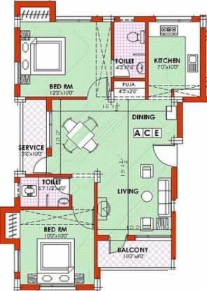 Pleasant Park (2BHK+2T (999 sq ft) Apartment 999 sq ft)