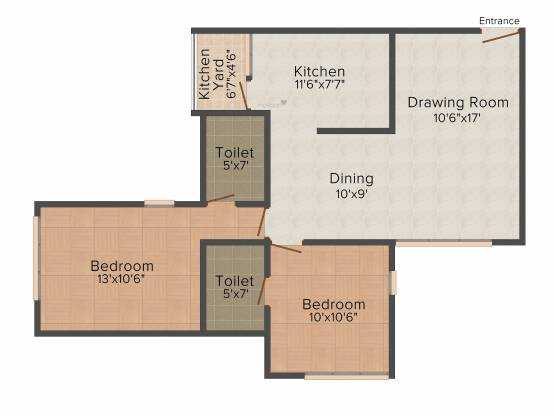 Savvy Solaris (2BHK+2T (1,197 sq ft) Apartment 1197 sq ft)