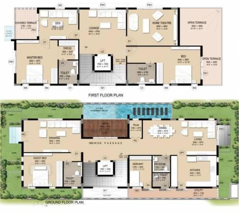 Trident Orion (3BHK+4T (3,956 sq ft) + Servant Room Villa 3956 sq ft)