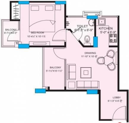 Platinum Rosewood Apartments (1BHK+1T (576 sq ft) Apartment 576 sq ft)
