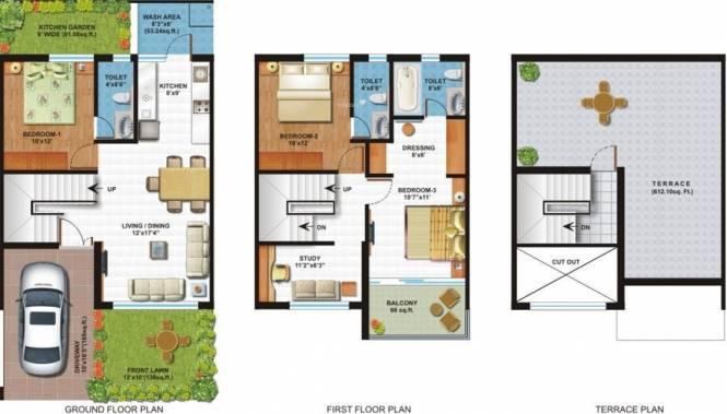 Surya Surya City (3BHK+4T (1,475 sq ft) Villa 1475 sq ft)