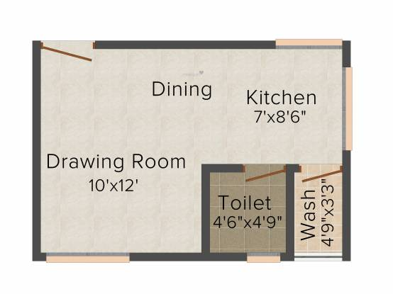 Khyati Green City (1RK+1T (675 sq ft) Apartment 675 sq ft)