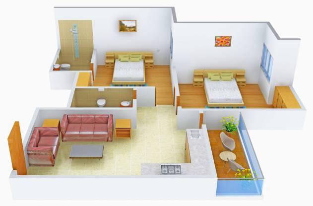 Anukampa Omega (2BHK+2T (715 sq ft) Apartment 715 sq ft)