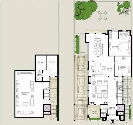 Emaar The Palm Springs Villa (5BHK+7T (4,900 sq ft)   Servant Room Villa 4900 sq ft)