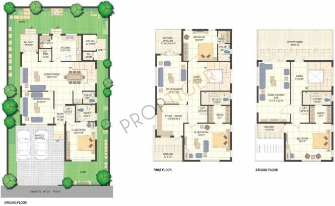 BSCPL Bollineni Homes Villa (4BHK+5T (4,498 sq ft)   Study Room Villa 4498 sq ft)