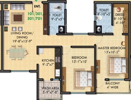 SDPL Shree Swaminarayan Enclave (2BHK+2T (1,200 sq ft) Apartment 1200 sq ft)