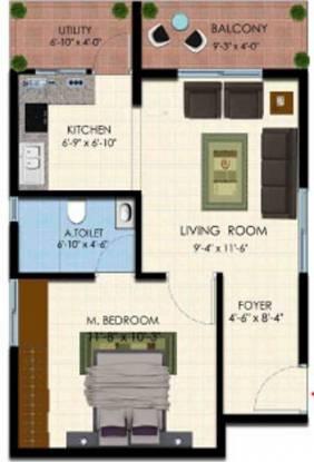 Vistar Classic (1BHK+1T (553 sq ft) Apartment 553 sq ft)