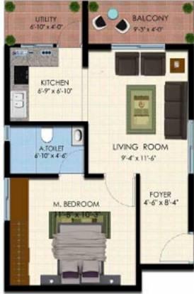 Vistar Classic (1BHK+1T (690 sq ft) Apartment 690 sq ft)