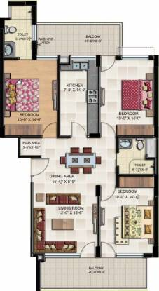 Gillco Heights Extension Floors (3BHK+2T (1,510 sq ft) Apartment 1510 sq ft)
