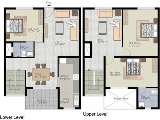 Uniworth Tranquil (3BHK+2T (1,956 sq ft) Apartment 1956 sq ft)