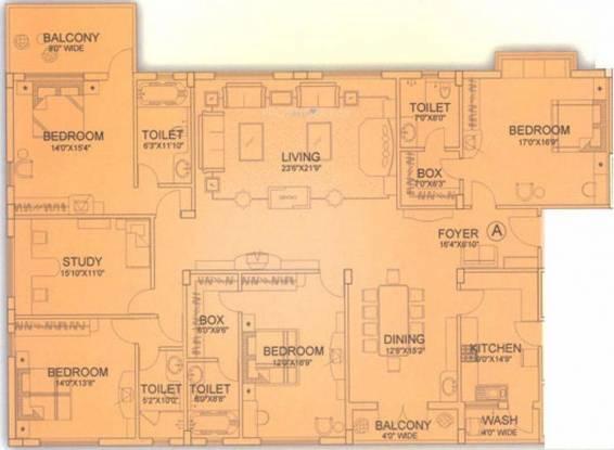 Unimark Heritage Princess (4BHK+4T (4,005 sq ft)   Study Room Apartment 4005 sq ft)