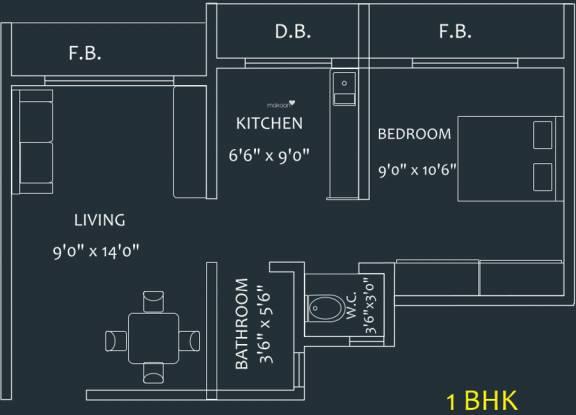 MAAD Yashvant Pride (1BHK+1T (600 sq ft) Apartment 600 sq ft)