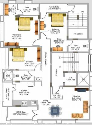 Gurumurty Tejomay (3BHK+3T (1,918 sq ft) Apartment 1918 sq ft)