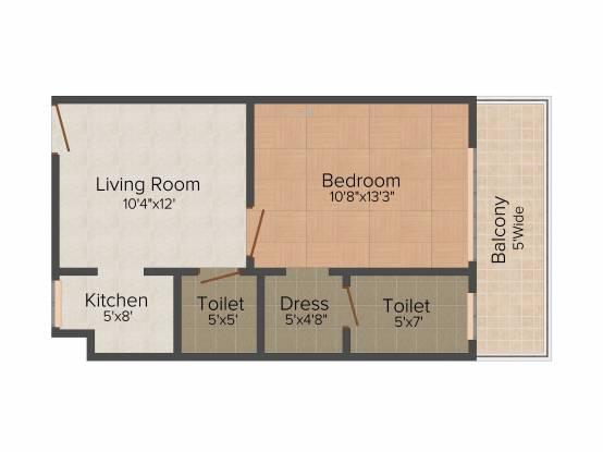 Sandwoods Windsor Suites (1BHK+1T (615 sq ft) Apartment 615 sq ft)