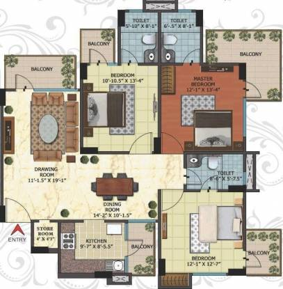 Niho Blossom (3BHK+3T (1,756 sq ft) Apartment 1756 sq ft)