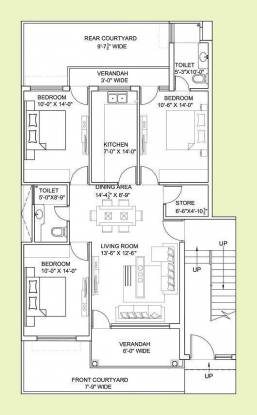 Gillco Independent Floors (3BHK+3T (1,450 sq ft) Apartment 1450 sq ft)