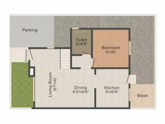 Aatmiya Kanha Residency (3BHK+3T (1,577 sq ft) Villa 1577 sq ft)