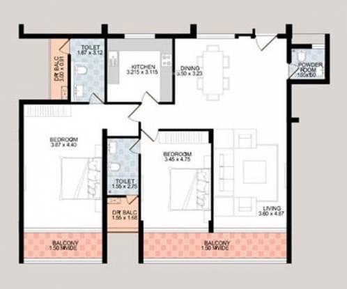 Sardesai Mayflower Enclave (2BHK+2T (1,774 sq ft) Apartment 1774 sq ft)