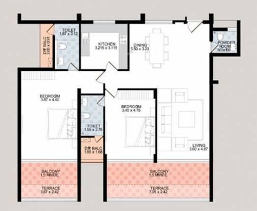 Sardesai Mayflower Enclave (2BHK+2T (1,852 sq ft) Apartment 1852 sq ft)