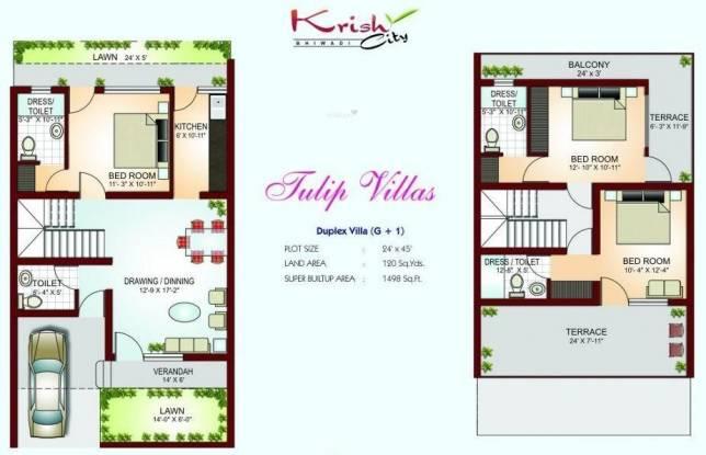 Krish Tulip Villa (3BHK+4T (1,498 sq ft) Villa 1498 sq ft)