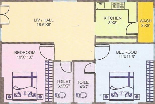 Shashank Sharanyas Arcade (2BHK+2T (850 sq ft) Apartment 850 sq ft)
