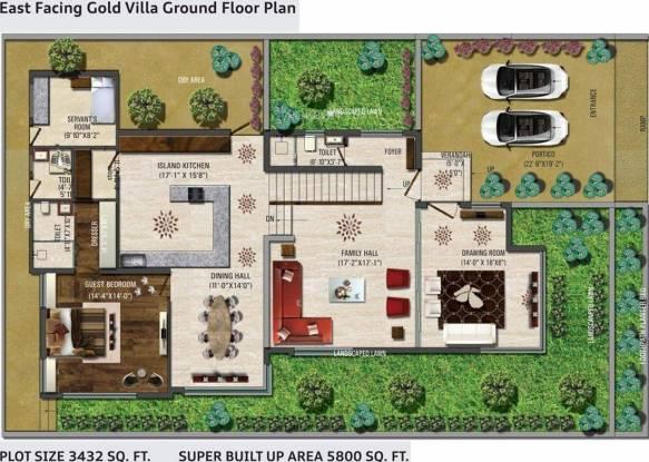 Vastu Rameshwaram City Villa (4BHK+7T (5,800 sq ft) + Servant Room Villa 5800 sq ft)
