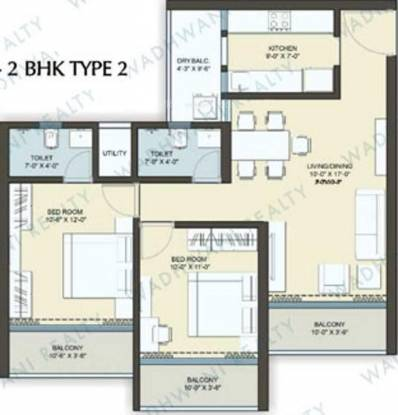 Pinnacle D Dreams (2BHK+2T (1,290 sq ft) Apartment 1290 sq ft)