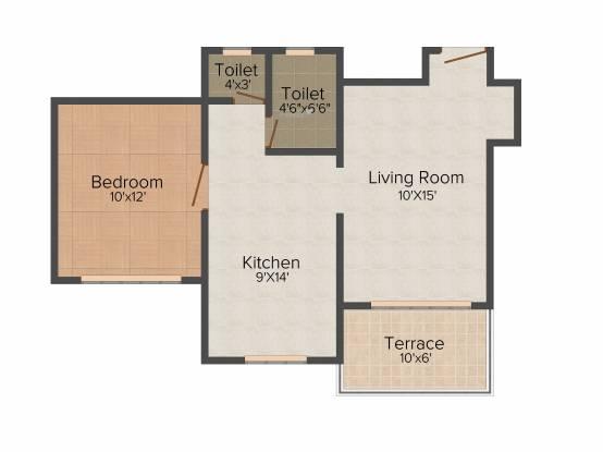 ACME Aureli (1BHK+1T (650 sq ft) Apartment 650 sq ft)