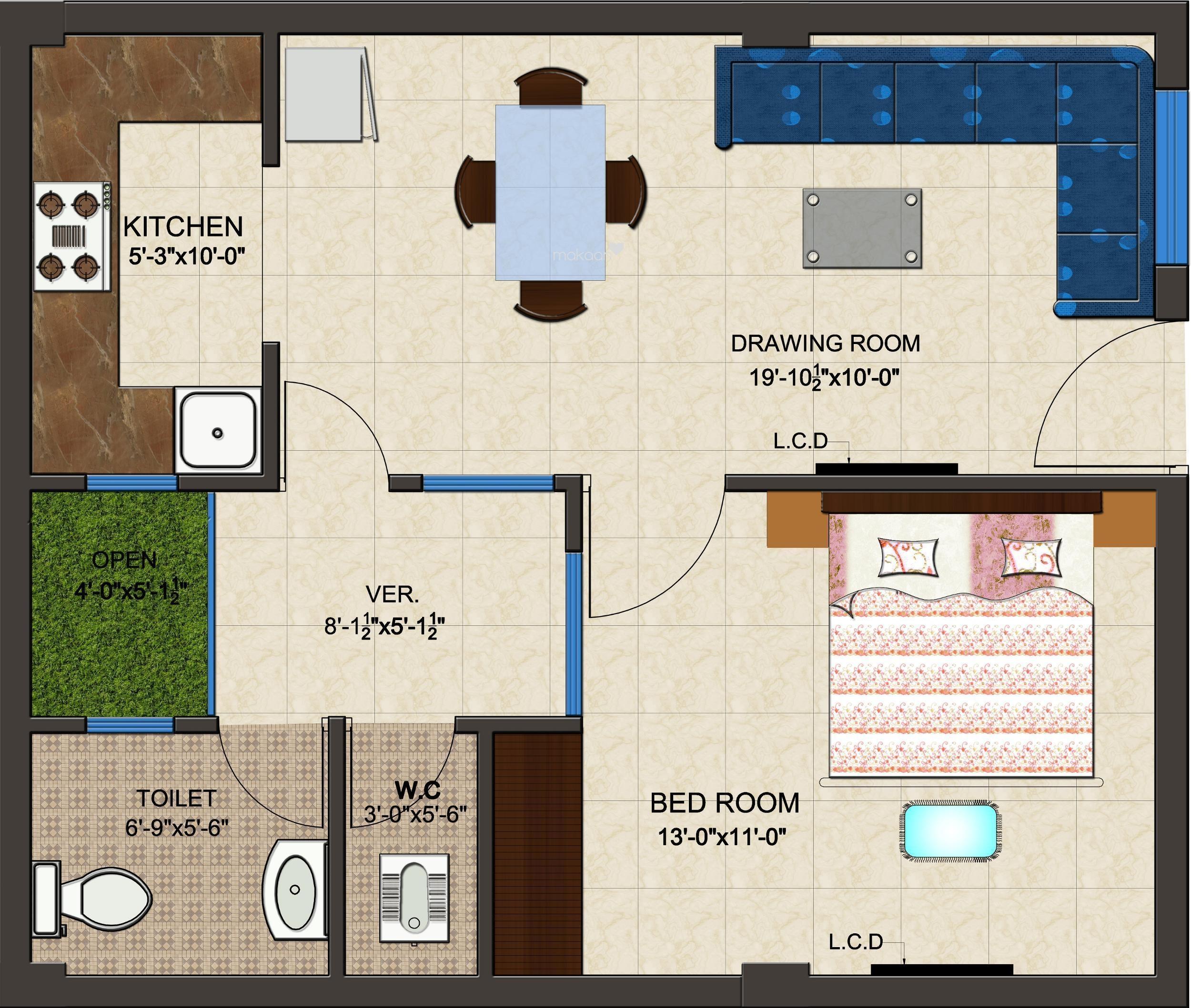 Rts Group Katyani Apartments 1bhk1t 800 Sq Ft Apartment 800 Sq