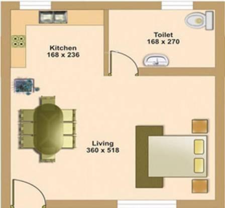Sreepathi Kailasam (1BHK+1T (452 sq ft) Apartment 452 sq ft)
