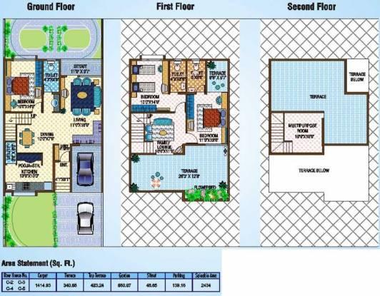 Yugal Willed Ways Villa (3BHK+3T (2,434 sq ft) Villa 2434 sq ft)