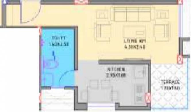 Niche Elysia (1BHK+1T (371 sq ft) Apartment 371 sq ft)