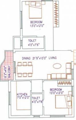 Agni Lakshmi Kripa (2BHK+2T (875 sq ft) Apartment 875 sq ft)